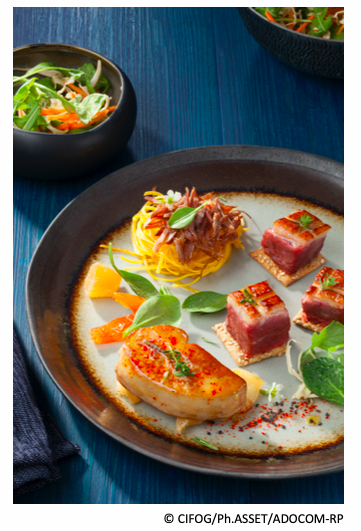 Assiette gourmande aux 3 amis du canard gras