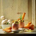 Oeufs brouillés aux champignons et mouillettes de Beaufort frit
