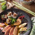 Foie gras, Magret et Confit de canard aux saveurs Mauriciennes
