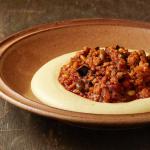 Mijoté de veau haché aux pistaches et pignons, purée à la vanille par le chef Cyril Lignac