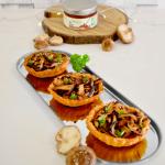Tartelettes aux shiitakes